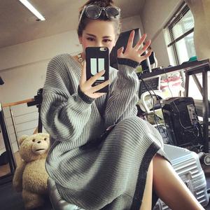 20152015孕妇毛衣秋冬韩版圆领孕妇长款套头毛衣宽松加肥加大