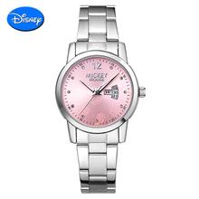 正品迪士尼女表韩国潮流手表石英表链条防水时装表女孩学生手表