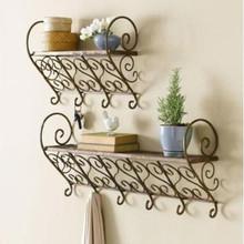 美丽甜缘铁艺壁挂花架阳台浴室架搁板置物架衣帽架墙壁书架花架