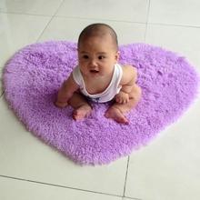 爱心地毯舒适环保防滑好清洗多种颜色宝宝爬行地毯地垫可定制尺寸