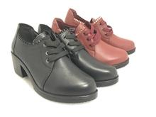 查看春达秋鞋女中跟2015新款深口单鞋女士真皮鞋英伦女粗跟圆头妈妈鞋