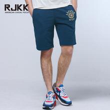 rjkk2017夏装新款纯棉水洗美式休闲短裤 男士运动五分裤 卫裤男