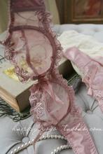 查看夏季薄款网纱蕾丝全透明文胸无海绵超薄杯镂空性感内衣女套装大码