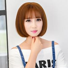 新款空气刘海假发短发女 bobo头韩国发型蓬松梨花头短直发包邮