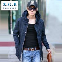 ZGB2017秋新款潮男士风衣韩版修身纯棉薄款中长款青少年英伦外套