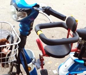 折叠车山地车女式自行车儿童坐椅前置 宝宝自行车电动车座椅前置