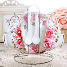 查看创意欧式咖啡杯英式陶瓷咖啡具套装咖啡套具下午茶茶杯具套装包邮