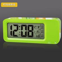 查看可充电创意静音夜光儿童学生床头聪明LED懒人电子小闹钟座钟台钟