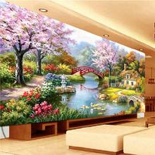 钻石画满钻十字绣新款客厅风景欧式花园小屋钻石绣5D方钻梦幻家园