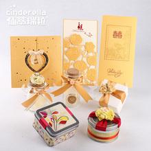 看样套装金色马口铁盒透明玻璃喜糖盒子糖袋请柬喜帖创意欧式婚礼