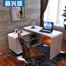 查看简约台式家用书桌书柜组合 简易烤漆电脑桌 宜家转角写字台办公桌