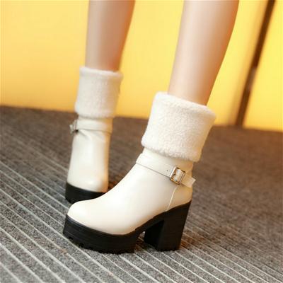 黄色正品马丁靴哥弟欧时力皮带扣思加图玖熙舒适圆头PU女鞋靴子