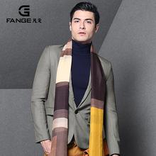查看凡戈2015秋季新款商务正装西装外套男青年修身男装英伦灰色小西服