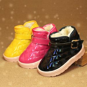 儿童雪地靴男童女童鞋宝宝短靴2015冬季新款加绒防滑童靴子保暖鞋