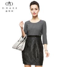 迪贝丝2017秋季新款高腰大码修身连衣裙包臀高端成熟女装Y01313T