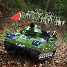 新款儿童电动车坦克车小孩汽车越野车童车遥控四轮可坐可开玩具车