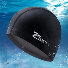 包邮正品振亚温泉泳帽 防水护耳PU涂层帽 男 女长发 大号游泳帽