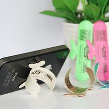 AOS傲石 新款韩国 单手操作器PU款懒人魔力贴U形创意手机支架
