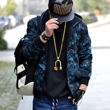 查看2015冬装新品男士嘻哈卫衣动漫印花羊羔绒加厚保暖超大码胖人外套