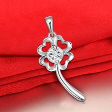 查看镶钻四叶草项链 女925纯银锁骨链子 短款 韩国时尚圣诞节礼物包邮