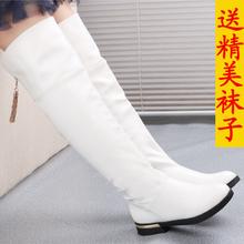 查看女童靴子冬过膝靴童鞋棉靴女大童高筒靴长靴流苏长筒马靴白色红色
