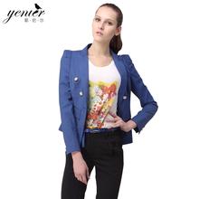 耶尼尔2017秋款新品女装欧洲站 短款帅气显廋纯色小西装外套