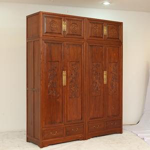 中式梅兰竹菊大衣橱中式衣柜明清仿古家具古典家具顶箱大衣橱价格: