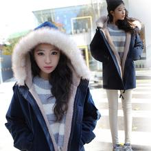 查看韩版新款冬衣学生可爱冬装加厚冬季棉衣棉服棉袄羊羔毛冬天外套女