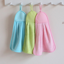 2条装 擦手巾韩国吸水厨房珊瑚绒擦手毛巾擦手布搽手巾挂式可爱