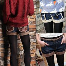 查看2015新款冬季牛仔短裤女秋冬款外穿显瘦大码皮毛毛打底靴裤热裤潮