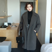 2017秋冬装孕妇装中长款外套韩版大码羊毛呢子风衣大衣加厚女上衣