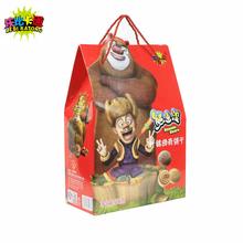 乐比卡通 熊出没什锦曲奇饼干大礼包年货送礼盒装600g 全国包邮