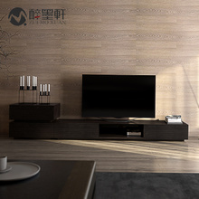 醉墨轩 电视柜简约现代组合边柜 新中式电视柜水曲柳实木客厅家具
