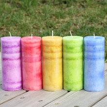 欧式无烟雪花圆柱蜡烛 熏香香味香氛柱蜡长款 派对家居创意生日