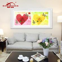 新款5d魔方钻石画玫瑰花心形卧室客厅沙发5D钻石卧室钻石画装饰画