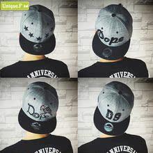 查看韩版潮透气牛仔布刺绣字母灰色平沿帽春夏季男女士休闲嘻哈棒球帽