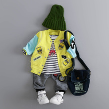 查看2016新款男童装春装0-1-2-3岁男宝宝外套女童开衫春秋婴儿上衣潮