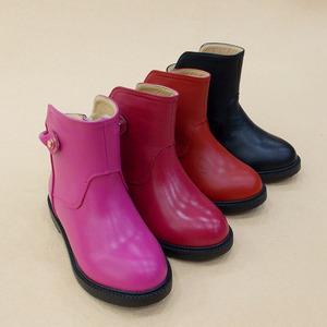 太阳仔童靴2015年新款童鞋冬款女童皮靴子底筒短靴二棉皮鞋正品