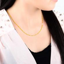 查看1.7mm粗 男女同款 18K黄金白金玫瑰金加粗圆柱颈链 空心盒子项链