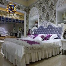 卡幕伦欧式床法式实木雕花床板式床高箱床双人床1米8床