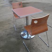 查看肯德基快餐桌椅饭店会议洽谈咖啡厅茶吧两人位分体铝合金 餐桌椅
