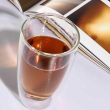 双层玻璃杯隔热透明水杯 茶杯咖啡杯牛奶杯创意啤酒杯子果汁杯