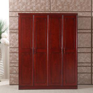顺心家具 实木衣柜 水曲柳4门衣柜现代中式四门衣橱实木储物柜价格:
