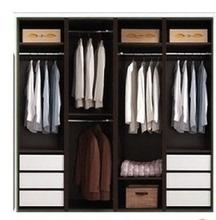 特价组合大衣柜 简约阳台柜 木质无门衣柜 特价衣橱储物柜可定制