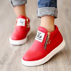 二棉男女童靴子冬 韩版真皮马丁靴儿童短靴皮鞋宝宝雪地靴童鞋潮