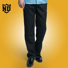 中老年男士西裤男修身春夏薄款黑色酒店服务员职业工作裤子西装裤