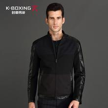 查看劲霸男装专柜正品牌秋季商务休闲外套纯色长袖男士时尚都市夹克