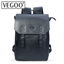 VEGOO新款韩版复古包真皮手提双肩包 男士背包休闲时尚包电脑包