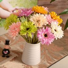 查看仿真花套餐扶郎花非洲菊太阳花餐桌装饰客厅摆放花艺假花绢花