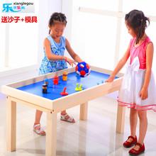查看特价儿童沙盘桌玩具太空盘游乐园沙桌粘土玩沙游戏火星沙托盘实木